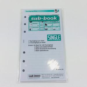 Sub-Book Tauchgangeinlagen SINGLE